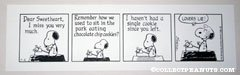 Snoopy 'Lovers Lie' Daily Comic Strip Poster