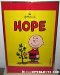 Charlie Brown with Christmas tree 'Hope' Hallmark poster