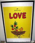Woodstock in nest with tree 'Love' Hallmark poster