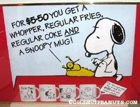'Peanuts Mugs Burger King Poster