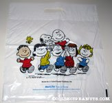 Peanuts Gang carrying Snoopy & Charlie Brown Metlife Shopping Bag