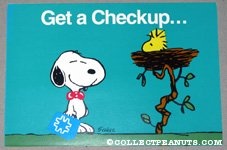 Snoopy at Woodstock's Nest 'Get a Checkup' Metlife Postcard