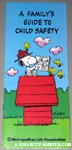Beaglescout Snoopy & Woodstocks on Doghouse Metlife Child Safety Brochure