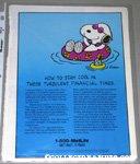 Snoopy in pool float Metlife Magazine Ad