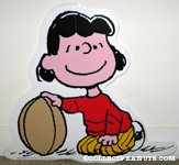 Lucy holding Football Cut-out Display
