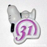Snoopy laying on Baskin Robbins Logo Giveaway