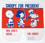 Snoopy, Charlie Brown and Lucy 'Snoopy for President' Bread Tie