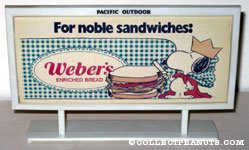 Snoopy the Prince 'For Noble Sandwiches' Weber's Bread Billboard Mockup