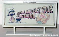 Lucy Grilling 'Come and Get your Fun Buns' Weber's Bread Billboard Mockup