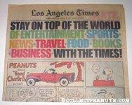 L.A. Times August 9, 1981 Comics Section