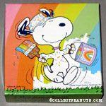 Snoopy painting rainbow