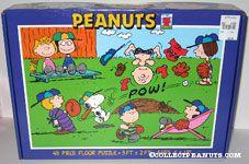 Peanuts playing baseball Puzzle