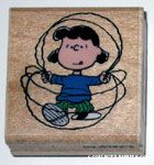 Lucy jumping rope Rubber Stamp