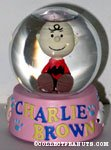Charlie Brown sitting Snowglobe
