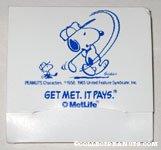 Metlife Snoopy golfing packet of tees