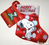 Snoopy looking at gift Mini Stocking