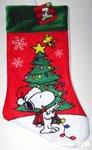 Snoopy & Woodstock decorating tree Stocking