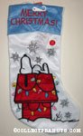 Snoopy on doghouse 'Merry Christmas' Christmas Stocking