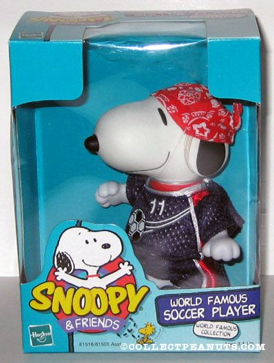 World Famous Soccer Player Snoopy Doll