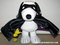 Animated Snoopy Vampire and Woodstock bat Plush