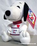 Snoopy wearing 'I Love You' Shirt Plush