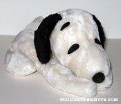 Snoopy laying on tummy bean bag plush toy