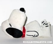 Snoopy laying on back Felt Doll