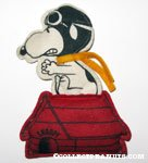 Snoopy Flying Ace on Red Doghouse Felt Doll