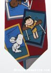 Peanuts Gang Olympic Sports Necktie