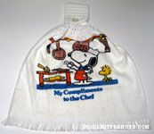 Chef Snoopy 'My Compliments to the Chef' Kitchen Towel