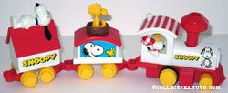 Snoopy and Woodstock 3 piece train