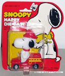 Snoopy in firetruck