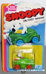Snoopy driving Green Army Tank