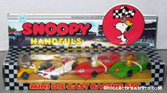 Snoopy Handfuls Mini Die Cast Racing Set - Snoopy, Lucy & Woodstock
