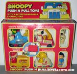 Snoopy Push N' Pull Toys - Set of 4 Cars, 6 Figures