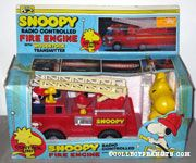 Snoopy Radio Controlled Fire Engine with Woodstock control unit