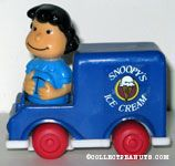 Lucy in Snoopy's Ice Cream Truck