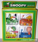 Snoopy, Woodstock and Charlie Brown set of 4 Wagons