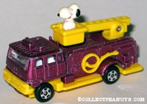 Snoopy in Purple Fire Engine