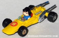 Lucy in yellow racecar