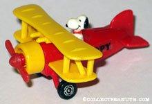 Snoopy pilot in yellow & red bi-plane