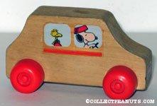 Snoopy & Woodstock Wooden Car