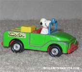 Snoopy in Green Truck