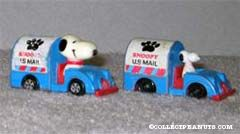 Snoopy in Mail truck