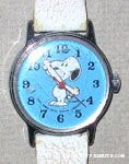 Snoopy Standing on Turquoise face and white band