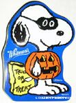 Snoopy in pumpkin costume with treat bag Tin Container