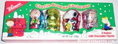 Charlie Brown, Lucy, Snoopy & Linus Foil-covered Hollow Milk Chocolate Christmas Figures