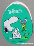 Snoopy laughing at Woodstock wearing bunny ears Egg-Shaped Chocolate Box