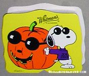 Joe Cool leaning against pumpkin Halloween Chocolate Box