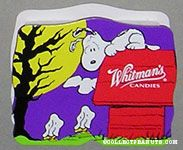 Snoopy on doghouse looking at Woodstock ghosts Halloween Chocolate Box